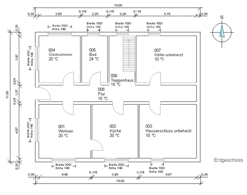 zur ermittlung der heizlast - Heizlastberechnung Beispiel